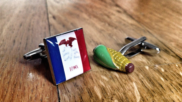 Iowan Corn Cufflinks