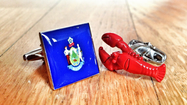 Maine Lobster Cufflinks