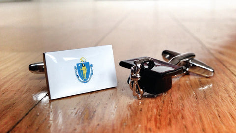 Massachusetts, Brain Capital of America Cufflinks