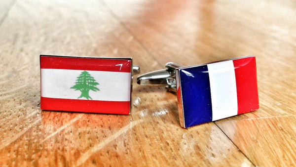 French Lebanese Paris Beirut Cufflinks