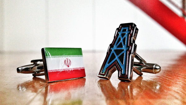 Iran Axis of Oil Cufflinks