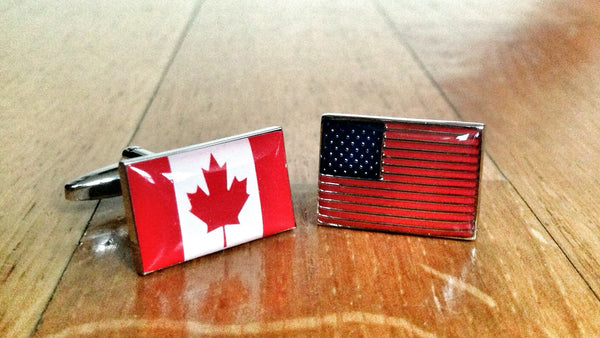 Canada vs USA Cufflinks