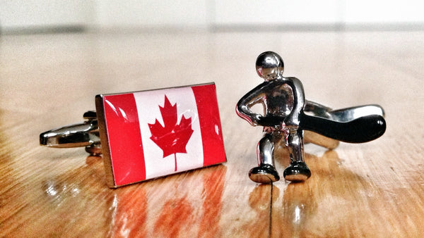 Canada Ice Hockey Cufflinks