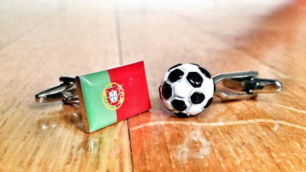 Portugal Football Fan Cufflinks