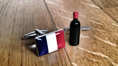 French Wine Cufflinks