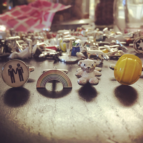 Gay Pride Cufflink Set