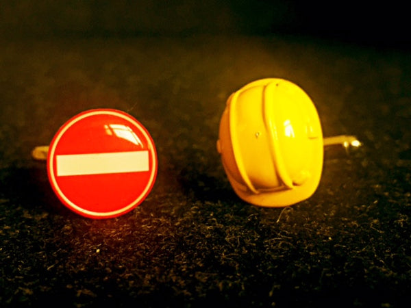 Construction Worker Gone Wild Cufflinks