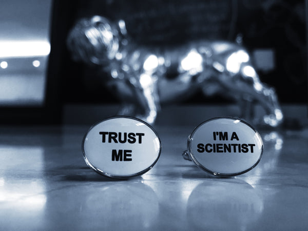 Trust me, I'm a Scientist Cufflinks