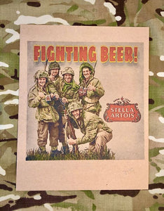 Ally Fighting Beer Print