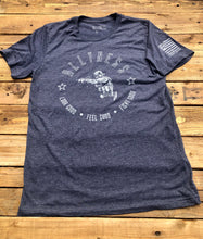 Load image into Gallery viewer, Original Shooter T Shirt, Blue & Grey 'Cop Edition'