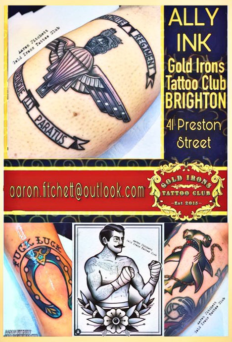 Gold Irons Tattoo Club Brighton UK
