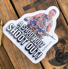 Load image into Gallery viewer, Ronnie Kray proper shootout sticker