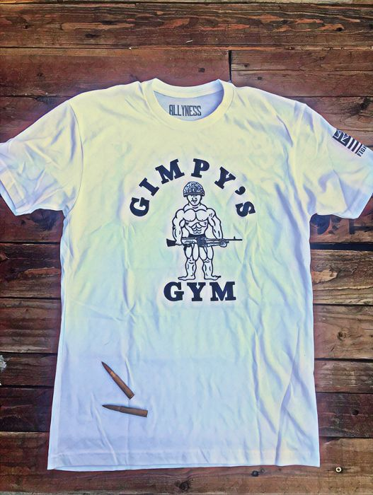Gimpy's Gym White & Black T Shirt