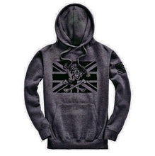 Load image into Gallery viewer, Fighting Pirate Hoodie/Dark Charcoal Grey AAF APPAREL