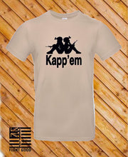 Load image into Gallery viewer, Kapp'em T Shirt - Tan N Black