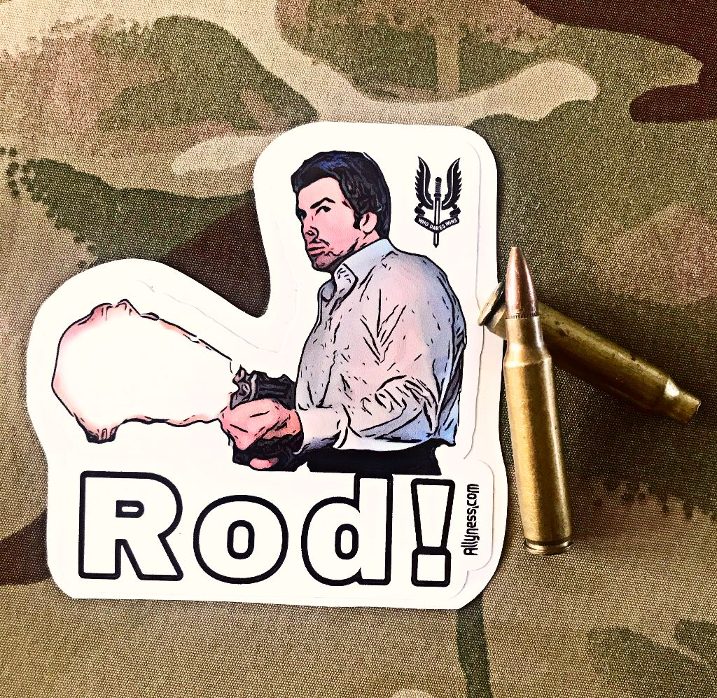 Pete Skellen slottin Rod! Sticker