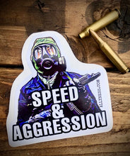 Load image into Gallery viewer, Speed & Aggression Nimrod sticker