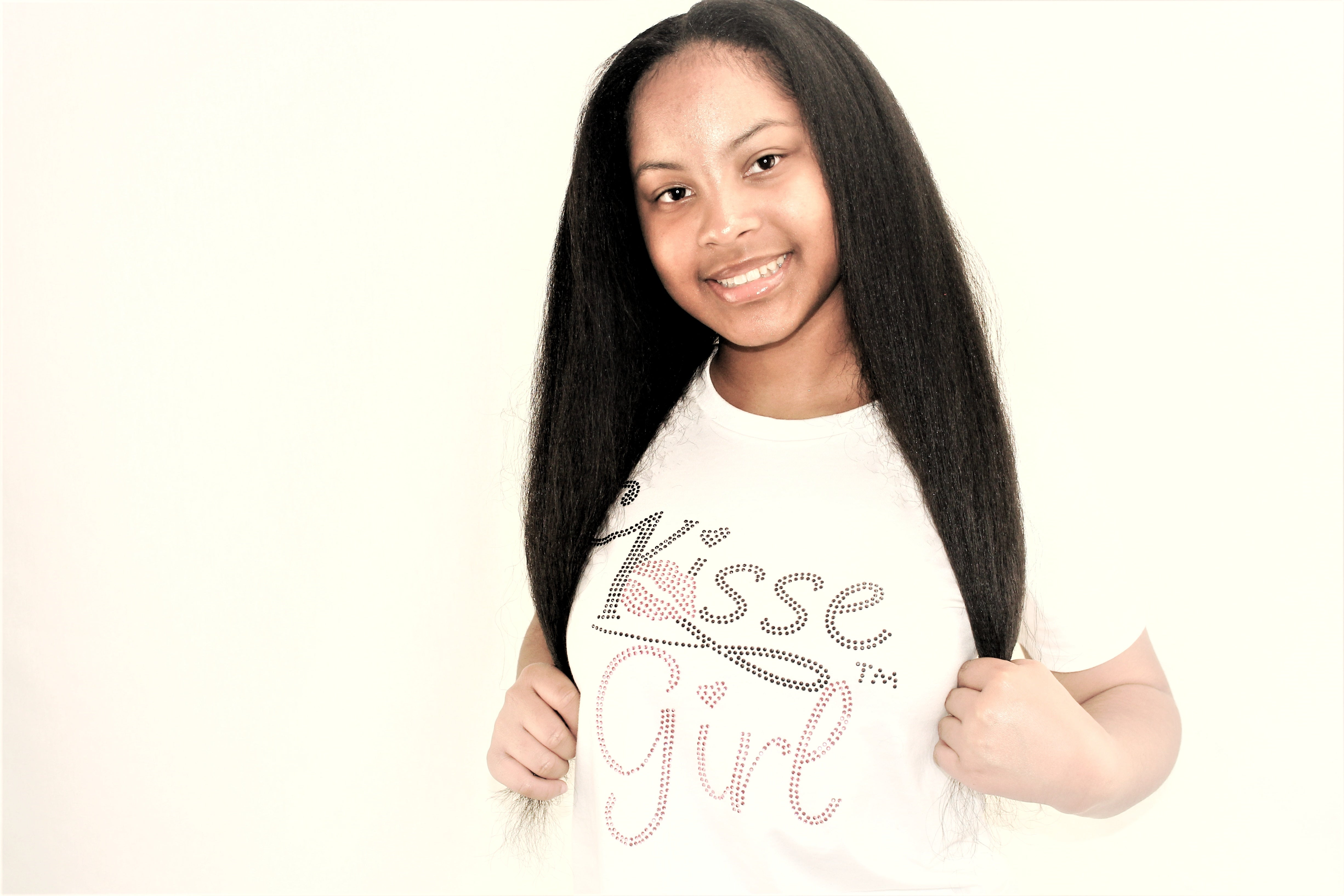 Bling Kisse Girl Youth T-Shirt