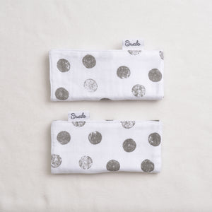 Muslin Strap Covers, Adjustable Width