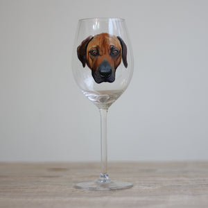 Personalised Hand Painted Pet Portrait Wine Glass