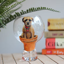 Load image into Gallery viewer, Personalised Hand Painted Pet Portrait G&T Glass