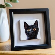 Load image into Gallery viewer, Framed Personalised Hand Painted Pet Portrait Reclaimed Tile