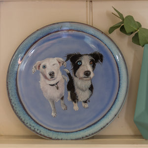 Personalised Hand Painted Pet Portrait Plate