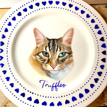 Load image into Gallery viewer, Blue China Personalised Hand Painted Pet Portrait Plate