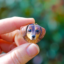 Load image into Gallery viewer, Ceramic Pet Head Pendant