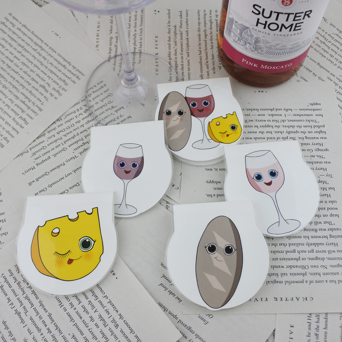 Wine Magnetic Bookmarks