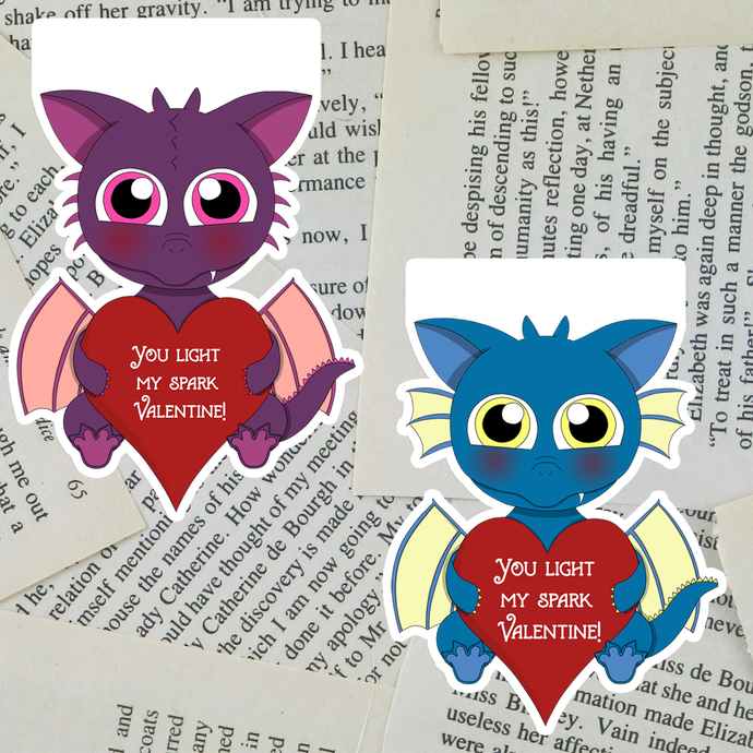 Valentine Dragon Bookmarks