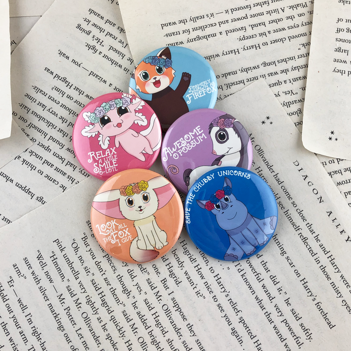Conservation Critters Buttons