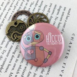 Hiccup The Steampunk Robot Button