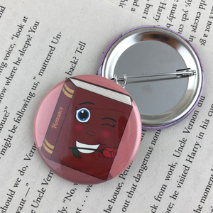 red romance book button