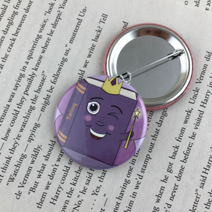 purple fairy fantasy book button