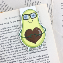 Load image into Gallery viewer, happy avocado laminated magnetic bookmark
