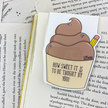 Load image into Gallery viewer, Teacher Cupcake Magnetic Bookmark