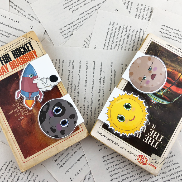 Solar System Magnetic Bookmarks