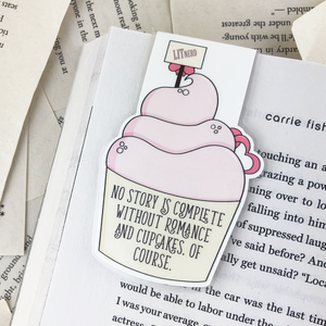 Wedding Cupcake Magnetic Bookmark