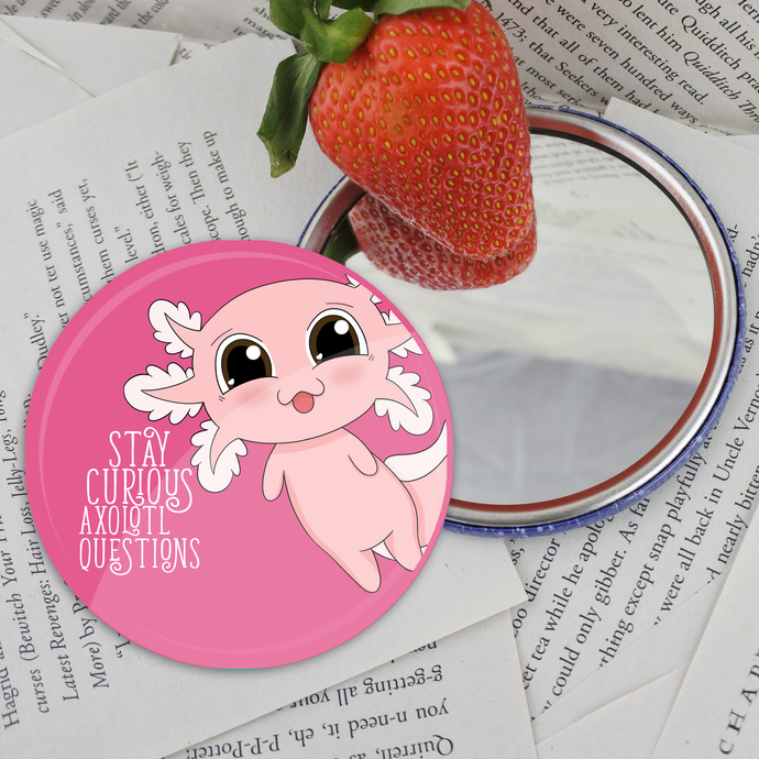 Axolotl Pocket Mirror