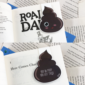 Poop Magnetic Bookmarks