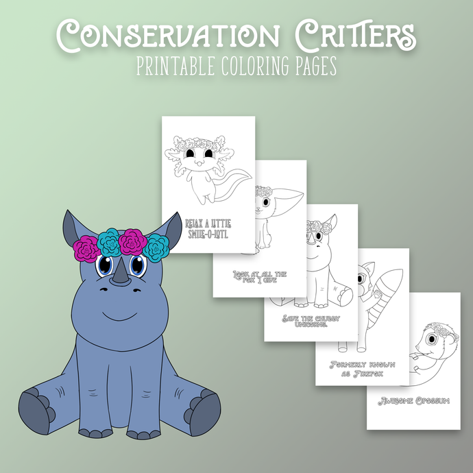 Conservation Critters Coloring Pages