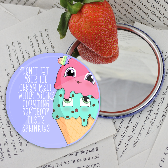 Ice Cream Pocket Mirror