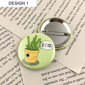 Succulent Lover Buttons