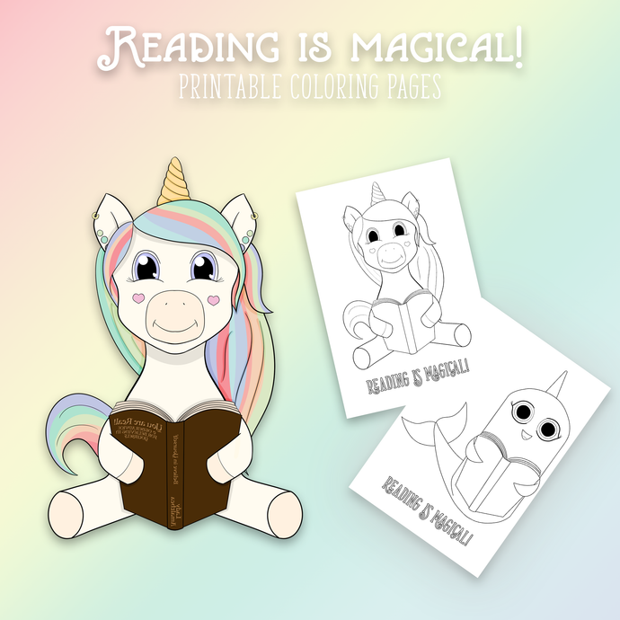 Reading is Magical Coloring Pages