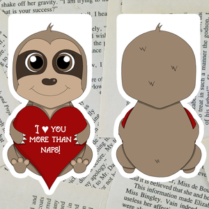 Valentine Sloth Bookmark