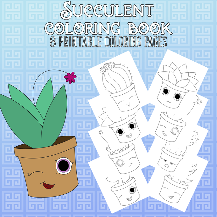 Succulent Coloring Pages