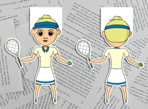 Tennis Girl Magnetic Bookmarks