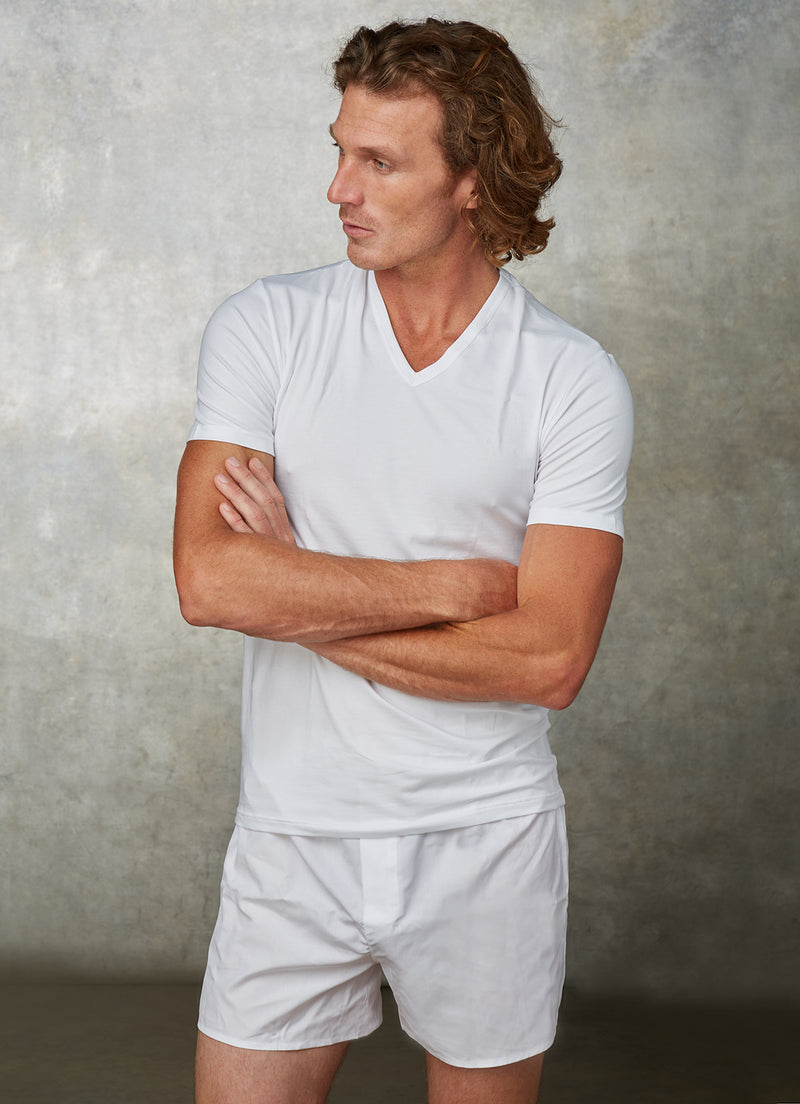 The Perfect Boxer Short in White Poplin