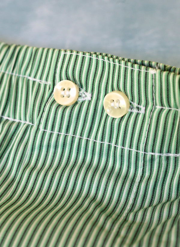The Perfect Fashion Boxer Short in Green Ombre Stripes